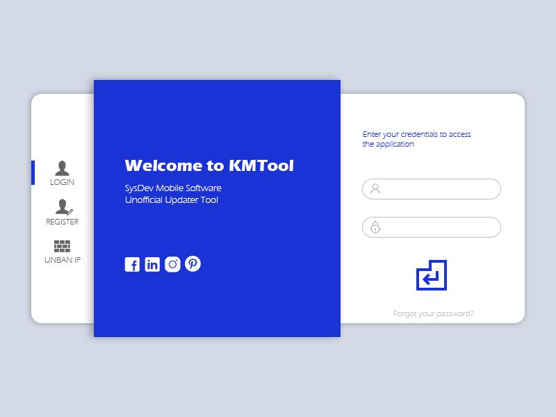 Application Login Screen Prototype